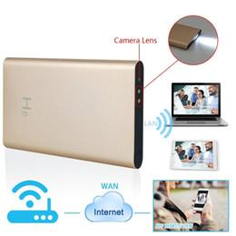 Wholesale Ip Hidden Camera Motion Detector - 32GB Spy Camera H8 P2P HD 1080P WIFI Mobile Power Bank External Battery wireless IP Spy Hidden Cameras DVR Video Recorder Motion Detector