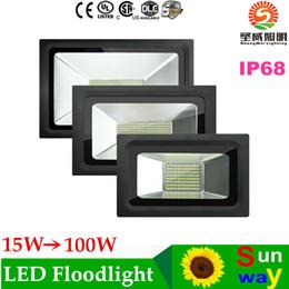 Wholesale Led Projector Reflector - LED FloodLight 200W 150W 100W 60W 30W 15W Reflector Led Flood Light Spotlight 220V 110V Waterproof Outdoor Wall Lamp Projectors