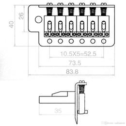 Wholesale 1 pont noir de qualité supérieure Tremolo pour le remplacement de la guitare électrique Strat E00196 BARD