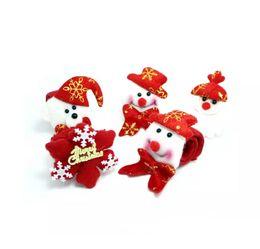 2019 scarafaggi di plastica Regalo di Natale Braccialetto papà luminoso Natale Babbo Natale Pupazzo di neve Giocattoli SlapPat Circle Bracciale da polso Decorazione per feste di Natale