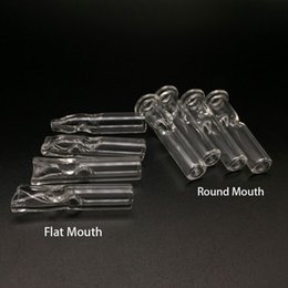 Wholesale Cigarette Holders Wholesale - Mini Glass Filter Tips for Dry Herb Tobacco RAW Rolling Papers With Tobacco Cigarette Holder Pyrex Glass Round & Flat Mouth Filter Tips