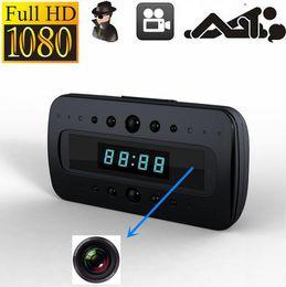 Wholesale Spy Hidden Camera Alarm Clock - Spy camera V26 LCD Alarm clock Camera Night vison 1080P HD Hidden Cameras remote control Clock H.264 Video recorder motion detect