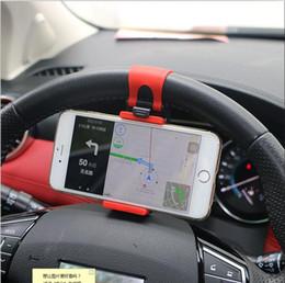 Wholesale Bmw E46 Android - Universal Car Steering Wheel Clip Mount Holder for iPhone 8 Android Mobile Phone Bmw e46 e39 e90 e60 e36 f30 f10 e34 e30