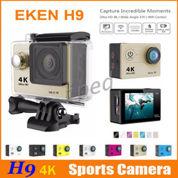 Wholesale Hd Camcorder Cheapest - Cheapest EKEN H9 4K Action Sports Camera 170 degrees Wide Angle 30M Waterproof Camcorder WiFi Sport Cameras HD 1080p 2 inch LCD colorful 30
