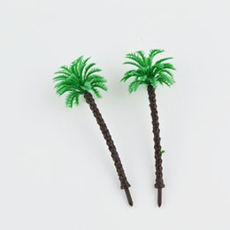 Wholesale Scale Train Wholesale - 20pcs 45mm scale model palm trees architectural palstic model green tree trains layout