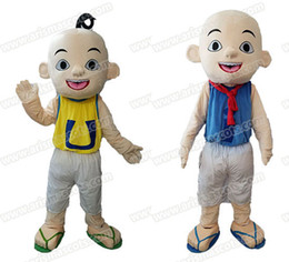 Wholesale Wholesale Cartoon Character - New Addition lovely boy Ipin & Upin mascot costume cartoon character mascot suit