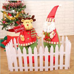 Pvc Christmas Plastic Recess Freedom Spartizzazione Giuntura Bianca Recinzione Albero di Natale Decorazione di Natale Contenitore 30 * 12cm da
