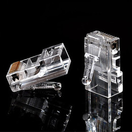 Wholesale Rj 11 Phone - 6 Pin 2 Contacts RJ11 RJ-11 Adapter Modular Plug 6P2C Telephone Phone Connector Crystal Head Adapter 8P8C Ethernet Network Converter