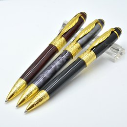 Wholesale Unique Luxury Gifts - unique design 6 Colors metal ballpoint pen with maple leaf Clip school office stationery luxury Writing business Gift refill pens M8