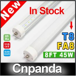 Wholesale Bright Feet Led - 8ft 8 feet FA8 2400mm T8 Led Tube Lights High Super Bright 45W Cool White Led Fluorescent Tube AC 85-277V