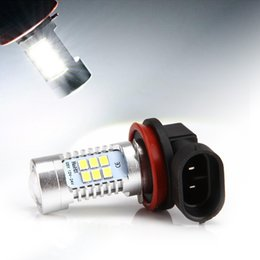 Wholesale High Power Led Car Lights - DHL Free! 21W White H8 H11 850LM High Power CREE LED DRL Car Reserve Light LED Fog Driving Light Lamp Bulb 6000K
