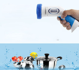 Wholesale Glass Cleaning Products - Free shipping hot product cheaper Electric cleaning brush can be used for tile glass bath tub basin hood sink kitchen convenient brush