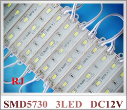 Wholesale Epoxy Letters - 1000pcs X Epoxy waterproof LED module back lighting for channel letter sign lighting box 3*SMD5730 1W 100lm IP66 75mm(L)*12mm(W)