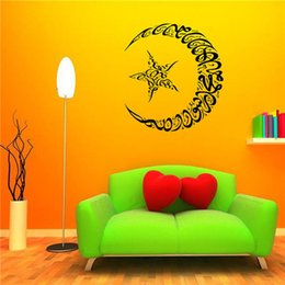 Wholesale Islamic Wall Decorations - Low Price Diy Wallpaper Islamic Quote Wall Stickers Home Decor Muslim Letters Home Decoration Parede Vinyl Wall Sticker for Wall