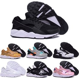 Wholesale Hot Pink Boots For Sale - 2016 Cheap Running Shoes For Men Women Air Huarache Hot Sale Trainers Authentic High Quality Jogging Shoes Sports Boots Free Shipping