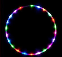 Wholesale Led Hula Hoops Wholesale - LED light flashing lights flash 24 Hula hula hoop colorful lights Hula hoop Slimming Belt Body building ring