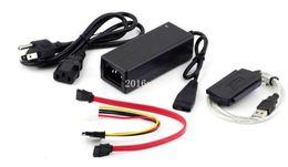 Wholesale New Sata Hard Drive Desktop - Free Shipping New USB 2.0 to IDE SATA 5.25 S-ATA 2.5 3.5 480Mb s HD HDD Hard Drive Adapter Converter Cable * 200set lot