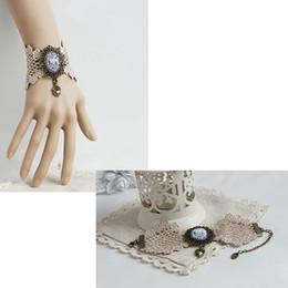Wholesale Lace Ring Bracelet Set - Elegant Ladies Retro Lace Bracelet Ring Sets Club Party Show Hand Chain Fancy Dress Cute Lolita Hand Decor Charm Bracelets