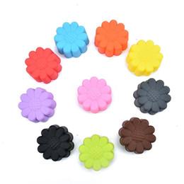 Caramella forma utensile online-Diametro 5cm Stampo per torta a forma di girasole Stampo per dolci fondente in silicone FAI DA TE? Muffin Cup Multicolor Baking Tool