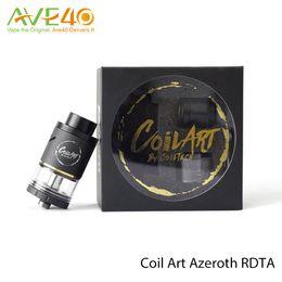 Wholesale Coil Bridge - Original Coil art Azeroth RDTA Atomizer Coil Art E Cigarette Vaporizer with Gold plated bridge posts Adjustable airflow E Cig Tank .