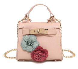 Wholesale Flora Bags - 2017 Children's Handbags Designer Flora PU Leather Girl's Purse Mini Chain Shoulder Bag