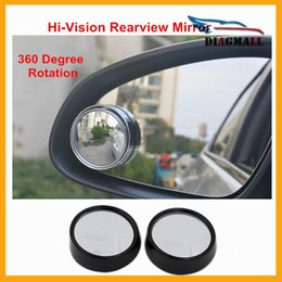 Wholesale Side Mirror Small - 1Pair 360 Car Wide Angle Blind Spot Mirror RearView Mirror Small Round Mirror Auto Side 360 Wide Angle Round Convex Mirror