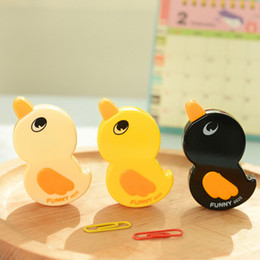 Wholesale Cute Tapes - New Fashion 10pcs lot Cute Duck Shape Correction Tape Stationery Office School Supplies Kid Children Prize Gifts