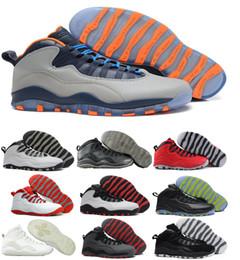 Wholesale China Athletic Shoes - 2017 Retro 10 Basketball Shoes Men Women Blue Air Retros 10s X Men's Women's Sport Femme Homme China Brand Athletic Training Sneakers Shoes