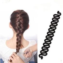 Wholesale Hair Bun Braided - Fashion Hair Braiding Tool Roller Magic Twist Styling Bun maker Locks Weaves Multi-colors Women Plastic French Fishbone Hair Braid Tool