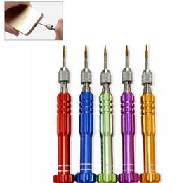 Wholesale Tool Kit For Mobile Repair - 5 in 1 Screwdriver Repair Kit phone opening for Iphone Samsung Mobile Phone Accessories Repair Screwdriver Set Open Phone Tools KKA2827