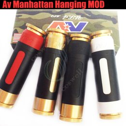 Wholesale Top Quality Mechanical Mod - Top quality Av Manhattan Pen Hanging Mod Mechanical Fit 510 Thread Brass Material Av Able mod 18650 Battery Limitless Mod Hanging DHL free