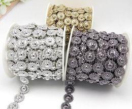 20yard ABS perles de tournesol perle UV plaqué garniture de chaîne pour la couture sac Apperal chaussures cap collier décoration ? partir de fabricateur