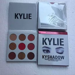 Wholesale Eyeshadow Palette Set Kit - Hot Kylie Cosmetics Jenner Kyshadow eye shadow Kit Eyeshadow BRONZE and BURGUNDY Palette Preorder Cosmetic 9 Colors Free Shipping