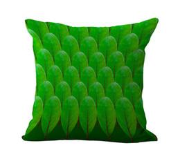 Cojines personalizados online-Fábrica Al Por Mayor de Color Personalizado Hoja de Arce Patrón de Lino de Algodón Throw Pillow Case Para Silla de Oficina POR DHL 240559