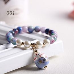 Wholesale Korean Women Beaded Bracelets - Korean fashion crystal bracelet Lucky lap cat sweet lady bracelets accessories bracelet bracelets for women bracelet