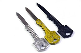 Wholesale Knife Key Rings - Outdoors Gear 3 Colors Portable Key Knife Foldable Key Chain Knife Camping Key Ring Knife Multifunction Tools F182L