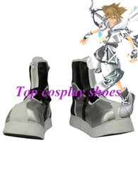 Wholesale Shoes Form - Wholesale-Freeshipping custom-made anime Kingdom Hearts II Sora Final Form Silvery Version Cosplay Boots shoes for Halloween Christmas