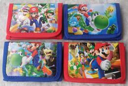 Wholesale Mario Wallets - Free Shipping! 12 Pcs Fashion Children Wallet Super Mario Cartoon Purse Sale Wholesale & Drop Shipping