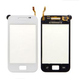 Teléfonos móviles s2 galaxy online-Samsung Galaxy Ace S5830 S5833 Touch pantalla digitalizador reemplazo de panel blanco y negro teléfono móvil frontal lente de vidrio piezas de reparación