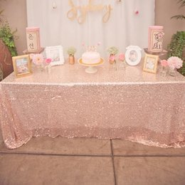 Wholesale Cheap Christmas Table Cloth - 2016 Fashion Table Covers Sequined Luxury Table Cloth Custom Made High Quality Wedding Decorations Factory Sale Liimited Time Discount Cheap