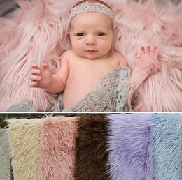 2019 mois année accessoires bébé 150cm * 1m Photographie nouveau-né Props Couvertures, Soft Stuffer panier de couverture bébé couverture, fausse fourrure Fotografia fond