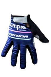 Wholesale Merida Gloves - WINTER FLEECE THERMAL 2016 LAMPRE MERIDA Pro Team Cycling FULL-finger Gloves Cycling Bike Gel Gloves Bicycle Glove Accessories Size M-XL