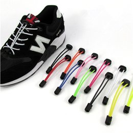 Wholesale Hotels Locks - Multi color running sports shoes shoelace free no tie lock lace durable elastic shoestrings for hot sale