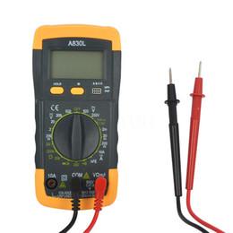 Wholesale Voltage Diode - DMM A830L LCD Digital Multimeter Electrical DC AC Voltage Diode Freguency Multitester Ammeter Voltmeter Ohmmeter Current Tester