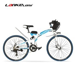 Wholesale e bike bicycle - K660 24 inches, 48V 12Ah Folding Electric Bicycle, Full Suspension, Disc Brakes. E Bike.
