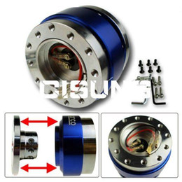 Wholesale Race Car Chassis - Universal 6 HOLES JDM CAR STEERING WHEEEL RACING QUICK RELEASE HUB ADAPTER Free shipping YY224