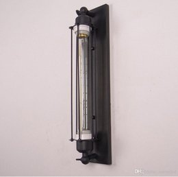 Wholesale Personalized Flutes - American Country Flute Personalized led wall lights industrial wall sconces Black Aisle Lights loft Iron Wall Lights Antique Bar Cafe Decora
