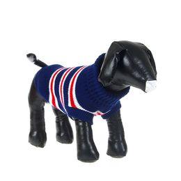 Wholesale Stripes Small Jackets - Pet Dog Puppy Stripes Sweater Knit Coat Pet Cozy Warm Jacket Cat Clothes