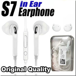Wholesale High Headphones - Original Quality Earphones For S7 S6 edge Headphone High Quality In Ear Headset With Mic Volume Control For i5 i6 i6s i7 With Retail Box