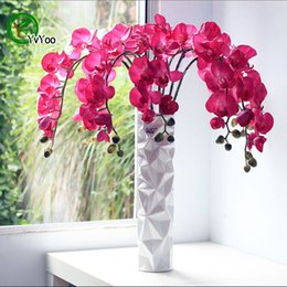 Orquídeas, potes on-line-Misturar Sementes de orquídeas de traça Sementes de Flores Bonsai Plantas Em Vasos de Flores 30 Partículas / Saco E024